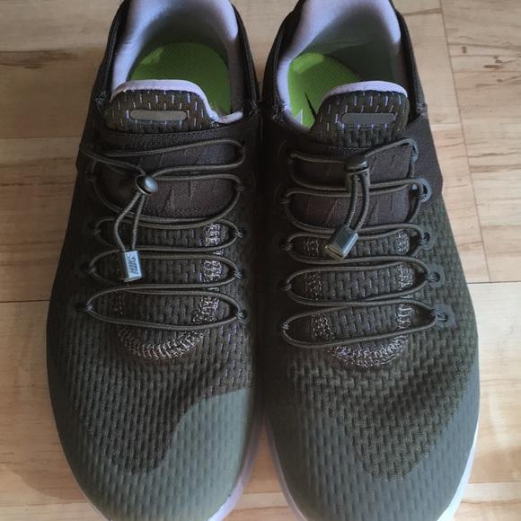 Nike Women Free Run Sneakers Green Gray